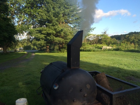 Our smoker in full operation